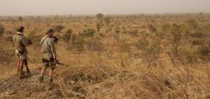 Tim Herald hunting near Burkina Faso