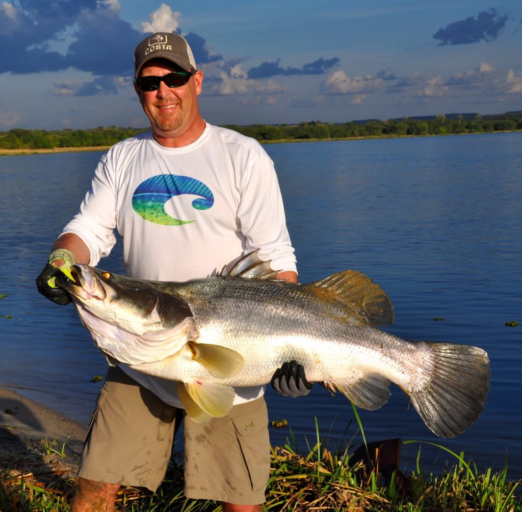 Tim Herald with 70-pound Nile Perch